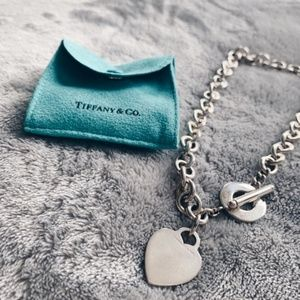 Tiffany & Co Necklace Heart Tag Toggle Clasp